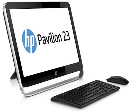 """Ordinateur Tout-en-un 23"""" HP Pavilion 23-g350nf - Argent/Noir (Intel Core i3, 4 Go de RAM, Disque Dur 1 To, Windows 8.1)"""