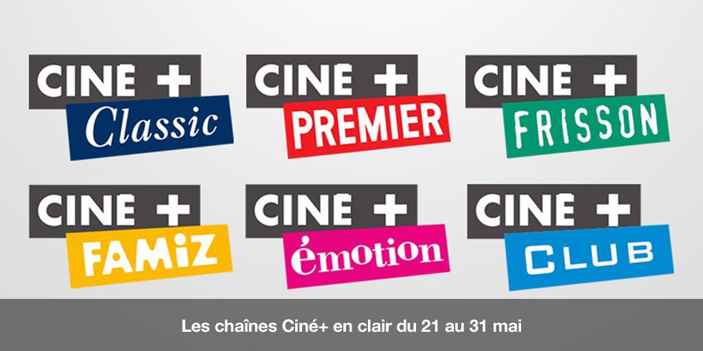 [Abonnés Orange] Les 6 chaines du bouquet  Cine+ en clair du 21 au 31 mai