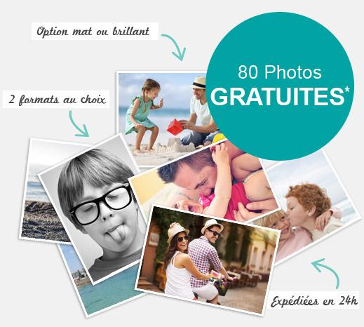 80 tirages photo gratuit / Frais de port à 3.99€