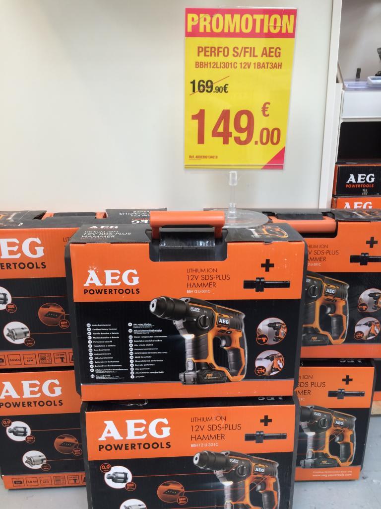 Perforateur AEG 12V - BBH12 LI-301C