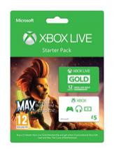 Abonnement Xbox Live Starter Pack 12 mois + 5£ de crédit + Jeu Max Curse of the Brotherhood