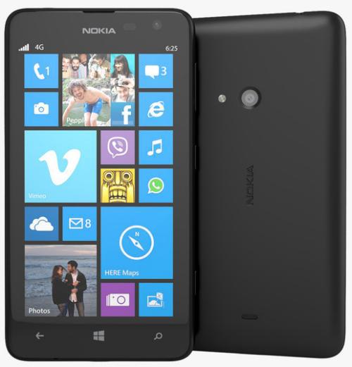 """Smartphone 4.7"""" Nokia Lumia 625 Noir 4G (avec ODR 30€)"""