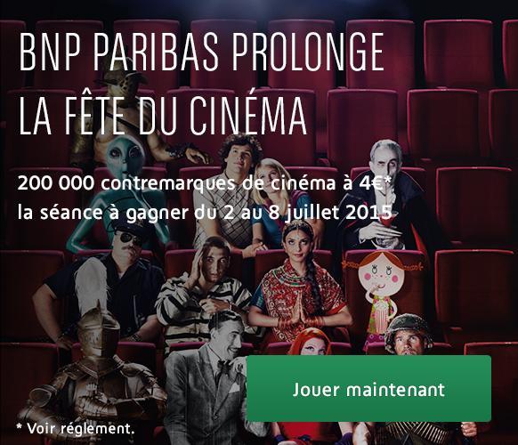 Contremarques Fête du Cinéma 2015 (4€ la place)