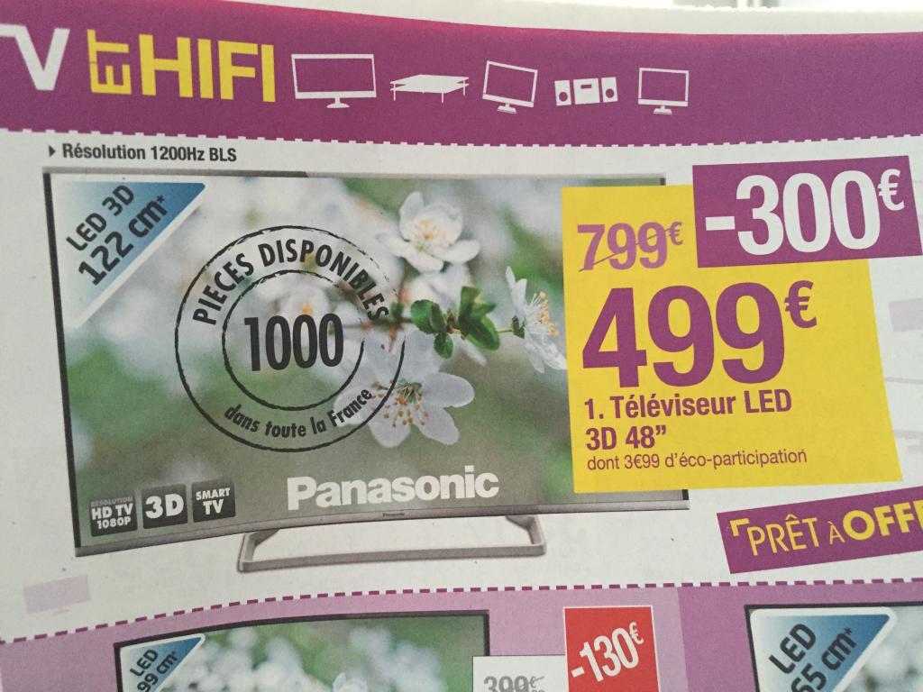 """TV LED 48"""" Panasonic TX-48AS640E - 3D, Smart TV"""