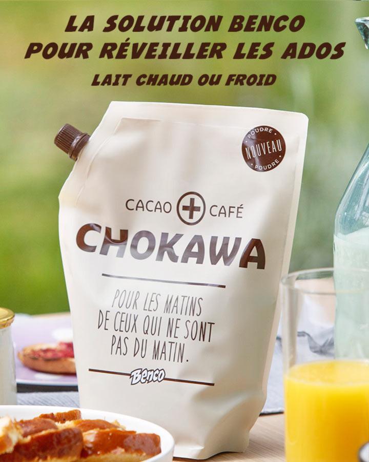 Benco Chokawa 550g (préparation chocolatée pour le petit déjeuner)