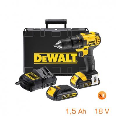 Perceuse visseuse 18V Dewalt - 2 bat li-ion 1,5Ah