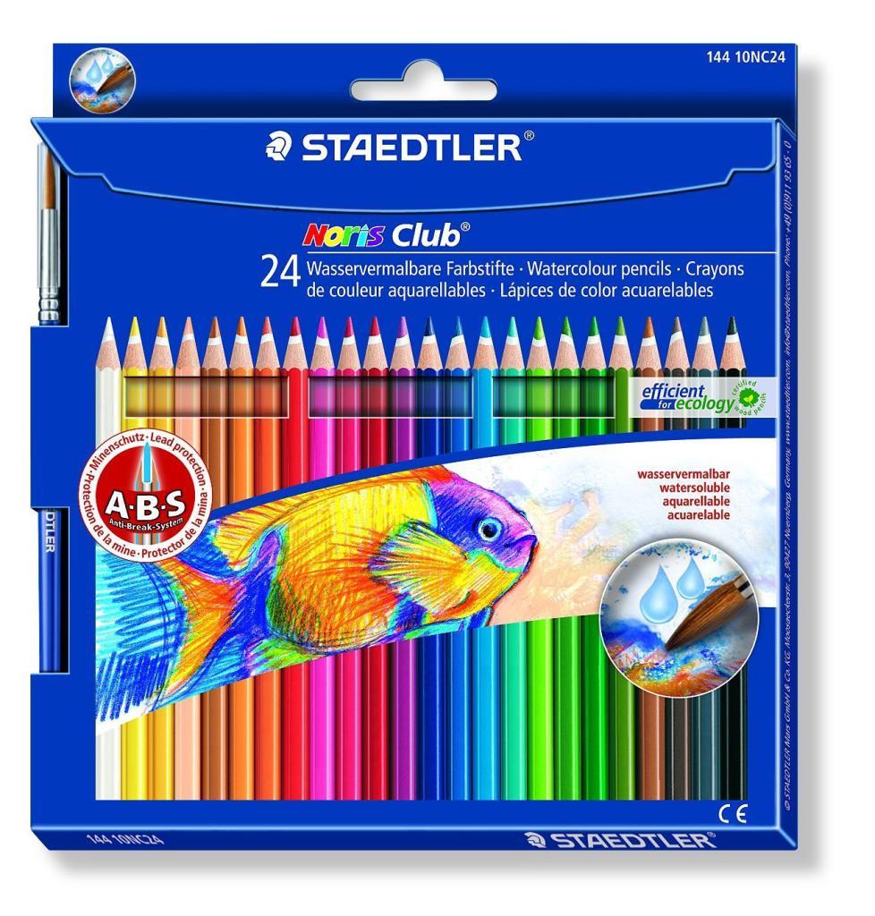 Staedtler Noris Club 24 Crayons de couleur aquarellables