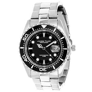 Montre Homme James Tyler JT705-3 - Quartz Chronographe - Bracelet Acier Inoxydable Argent