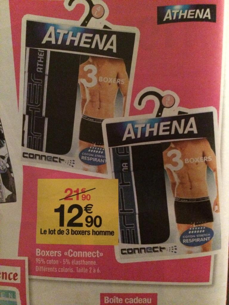 Lot de 3 boxers Athena Connect Homme