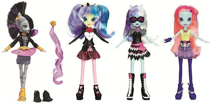 4 Poupées Equestria Girls Hasbro