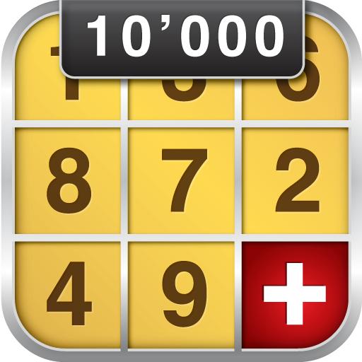 Jeu Sudoku 10'000 Plus gratuit sur Android (au lieu de 1.99€)