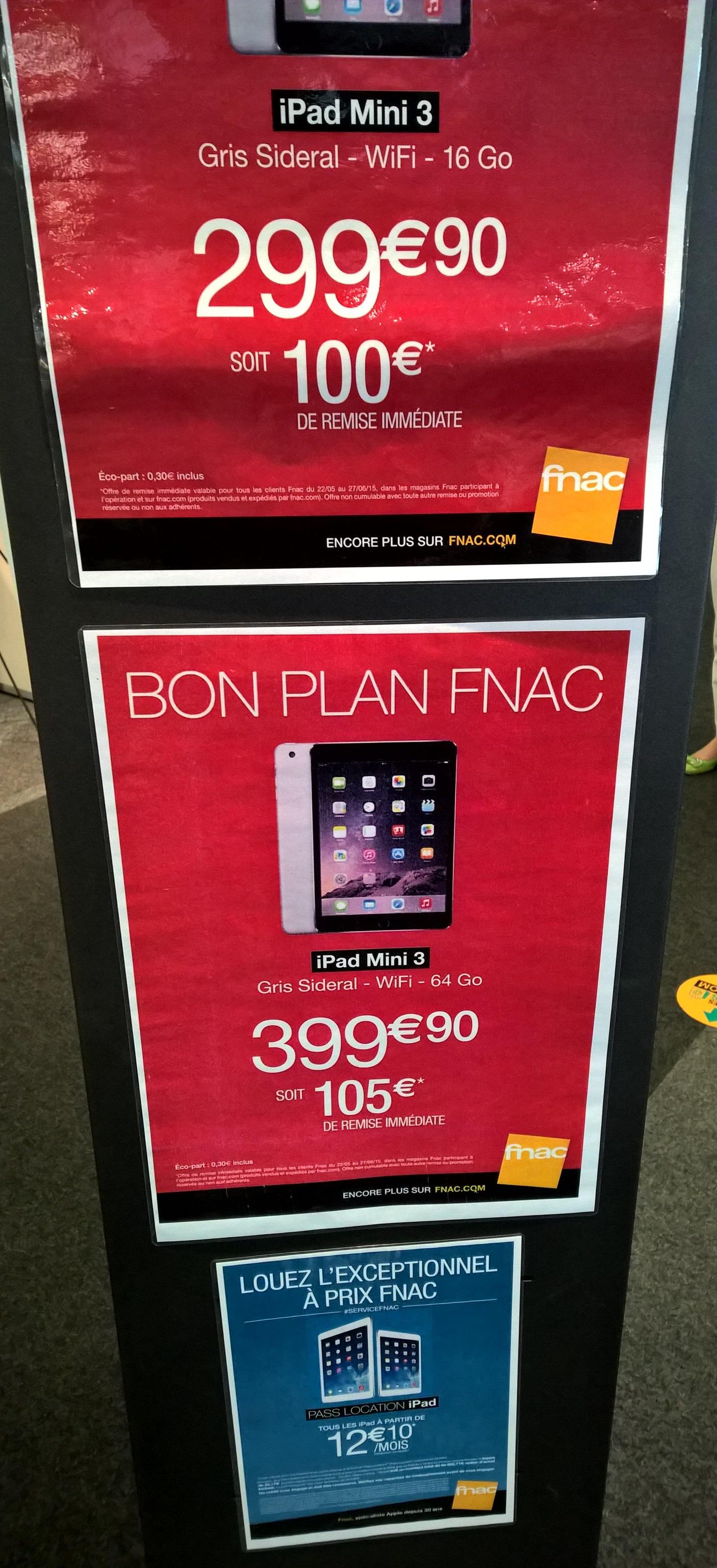 Tablette Apple iPad Mini 3 Wifi 64 Go