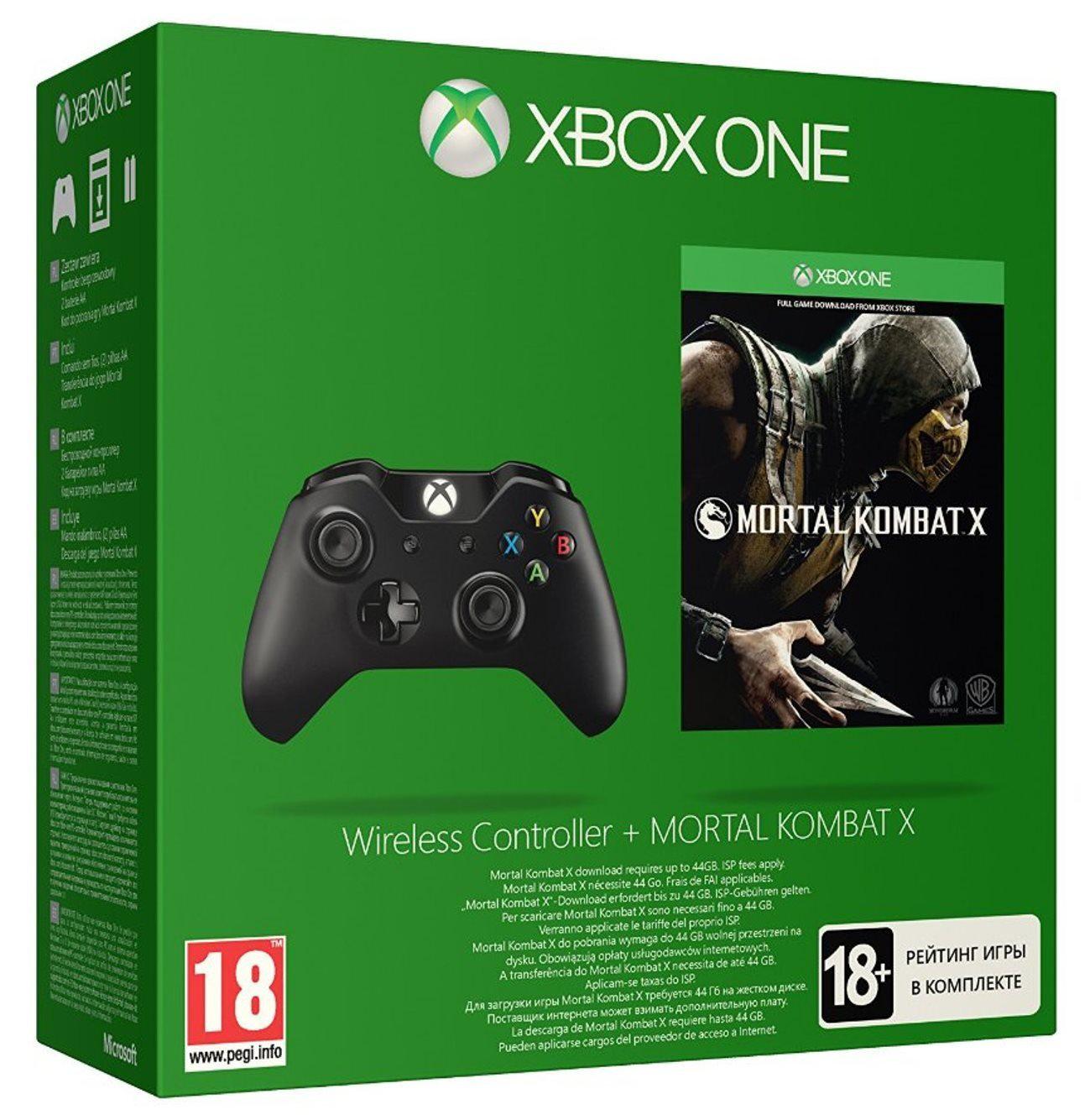 Manette Xbox One + Mortal kombat X (Dématérialisé)