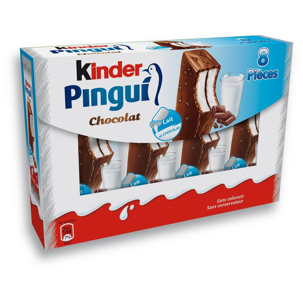 Kinder Pingui Chocolat x8 (50% sur la carte + BDR)