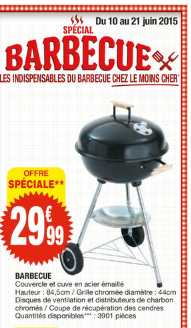 Barbecue avec couvercle en acier