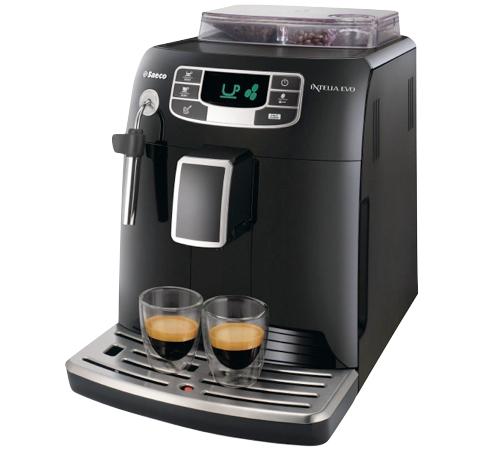 Machine à expresso Saeco HD8751/95 Intelia Evo Focus Black (+ 30€ en chèque cadeau + 2 verres + livre recettes + 1kg de café grains)