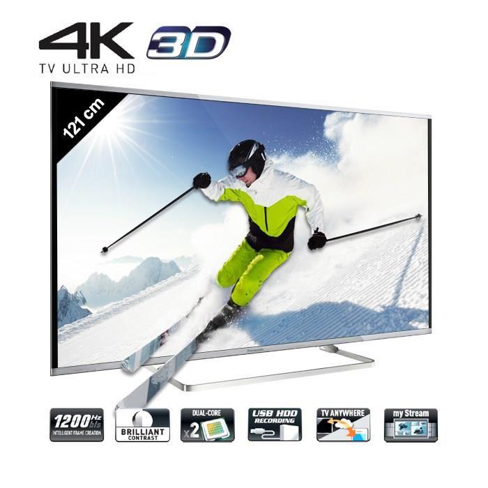 "TV LED 48"" Panasonic TX-48AX630E - Smart TV, 4K, 3D (+ 200€ en bon d'achat)"