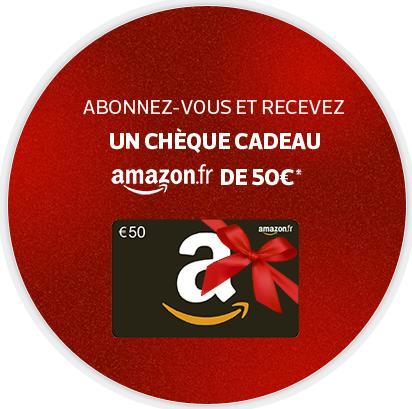 3 mois d'abonnement a l'équipe.fr + 50€ en carte cadeau Amazon