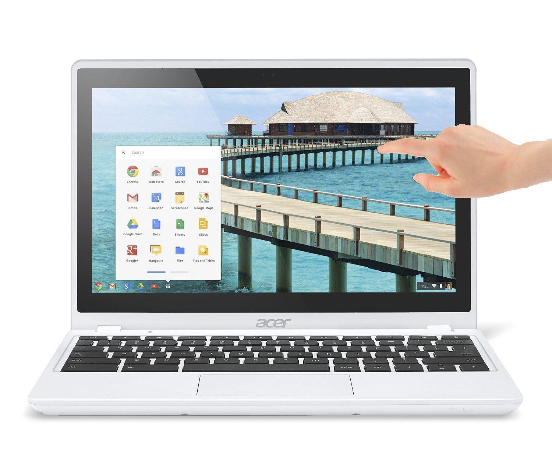"PC portable 11.6"" tactile Acer Chromebook C720P Blanc (Intel Celeron, 4 Go de RAM, Disque dur 32 Go, Chrome OS)"