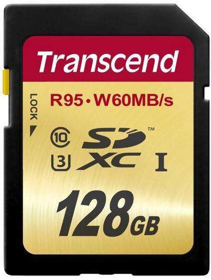 Carte mémoire SDXC Transcend UHS-I  U3 - 128 Go