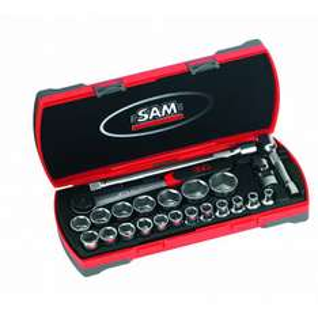 """Coffret de douilles et accessoires 1/2"""" Sam outillage 75-SAH23 - 23 pièces"""