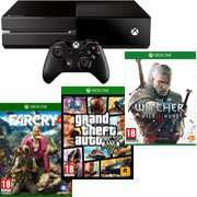 Console Xbox One + The Witcher 3 : Wild Hunt + Far Cry 4 + GTA V