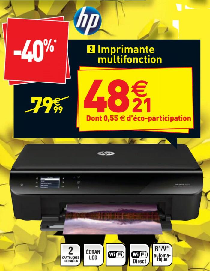 Imprimante multifonction HP Envy 4500 (wifi, recto/verso)