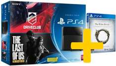 Pack console PlayStation 4 Noire + Driveclub + The Elder Scrolls Online : Tamriel Unlimited + The Last of Us Remastered