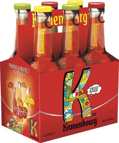 Bières aromatisées K by Kronenbourg - 6x27cl - Fruits rouges ou Citron/Citron vert (via BDR Beertime 3€)