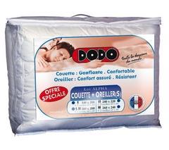 Lot Couette + 1 Oreiller DODO Alpha - 200 x 200 cm
