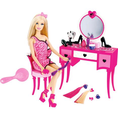 Poupée Barbie et sa coiffeuse Mattel