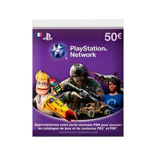 Carte PlayStation Network 50€