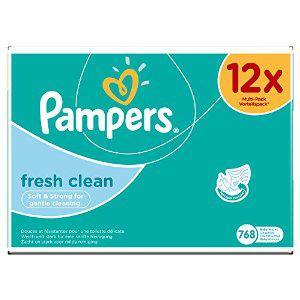 12 Paquets de 64 Lingettes Pampers Fresh Clean (768 Lingettes)