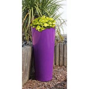 Pot Cosmos en plastique rotomoulé 70cm - Violet