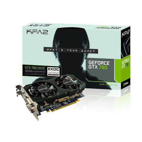 Carte graphique KFA GeForce GTX 760 Exoc v2 - 2 Go