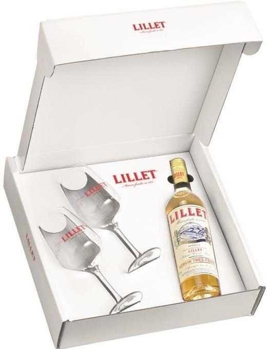 Coffret Lillet Blanc/rosé (75cl) + 2 verres offert
