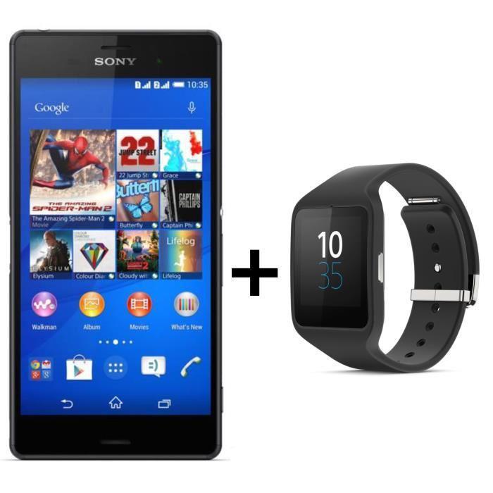 """Smartphone 5.2"""" Xperia Z3 + SmartWatch 3"""