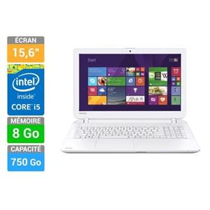 "PC portable 15.6"" Toshiba Sat L50-B-2E2 (Intel i5-5200U, 8 Go RAM, 750 Go HDD, Windows 8.1)"