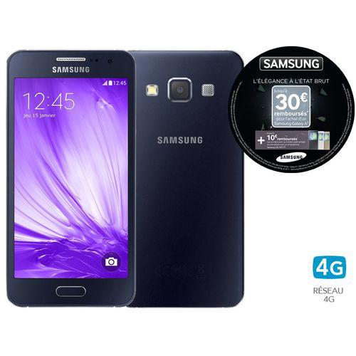 """Smartphone 4.5"""" Samsung Galaxy A3 - Noir (via ODR de 30€)"""