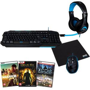 Equipement Gamer Bluestork + 4 jeux PC