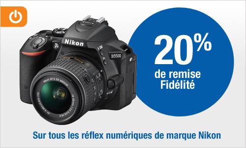 [Possesseurs Carte Pass] 20% de remise fidélité sur tous les réflex numériques Nikon