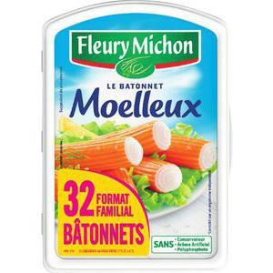 lot de 32 bâtonnets de surimi Fleury Michon (2.89€ sur la carte)