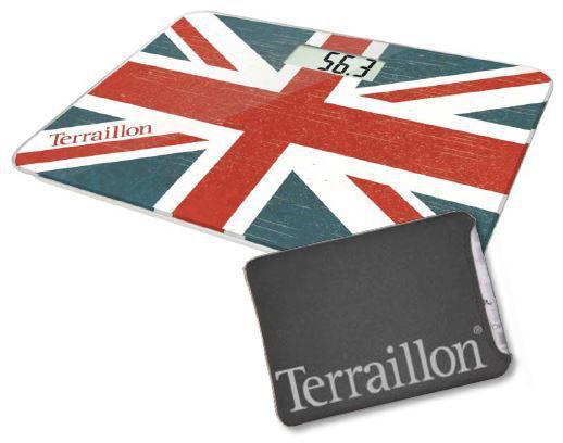Pese Personne Terraillon Pocket Decor Union Jack + Housse Neoprene