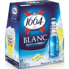 2 Packs de 1664 Blanc 6x25cl (via BDR, au lieu de 7.20€)
