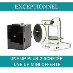 Imprimantes 3D UP Plus2 + Imprimande 3D UP mini