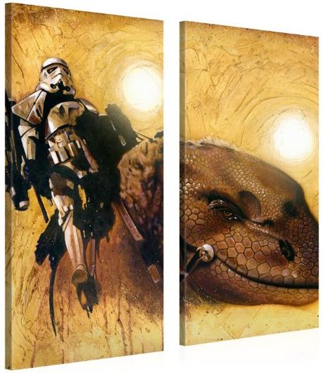[Maj]Sélection de toiles Galerie d'Art innovant Star Wars - Ex : 2 toiles 100x50 Trooper sur Dino