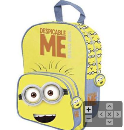 sac à dos minions avec accessoires (1 trousse, 12 feutres et 12 crayons de couleurs) (6.45€ sur la carte)