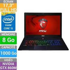 "PC Portable 17,3"" MSI GS70 2PC-419XFR Stealth (Core i5-4200H, 8 Go RAM, 1 To, GTX 860M)"