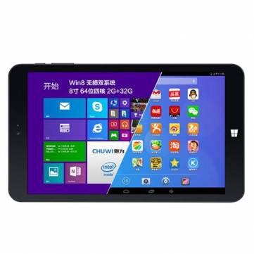 """Tablette 8"""" Chuwi Vi8 Dual Boot - Quad Core 2Go de RAM - 32Go - Windows 8.1 et Android 4.4"""