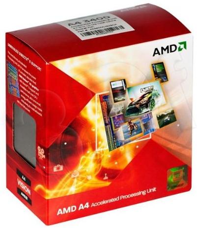 Processeur AMD Fusion A4-3400 / 2.7 GHz - Socket FM1 - L2 1 Mo ( 2 x 512 Ko )